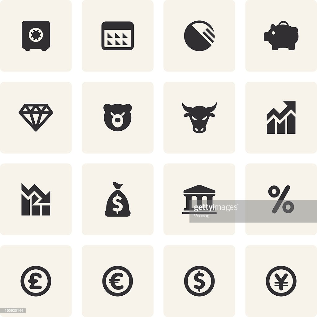 Finance Icon Set: Finance Icon Set Vector Art