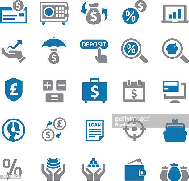 Finanzen Symbol set