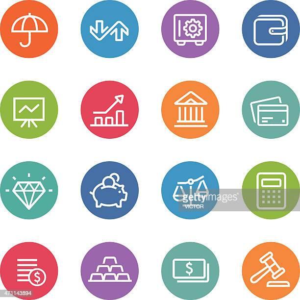 Finance Icons - Circle Line Series