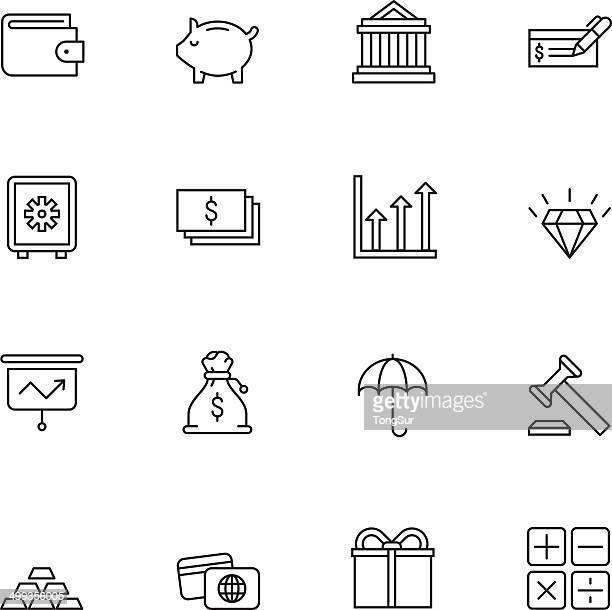 Finanzas icons/set 2-Luz
