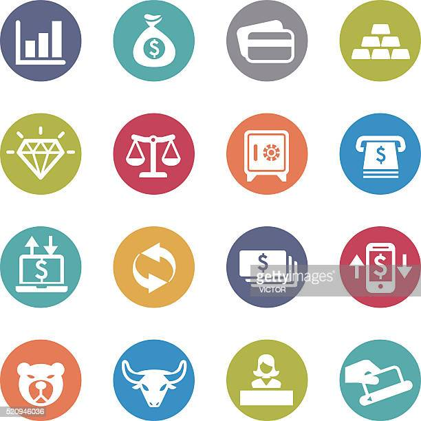 Finance Icons Set - Circle Series