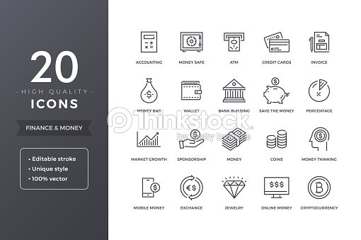 Finance Line Icons : stock vector