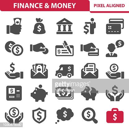 Finance & Money Icons : stock vector