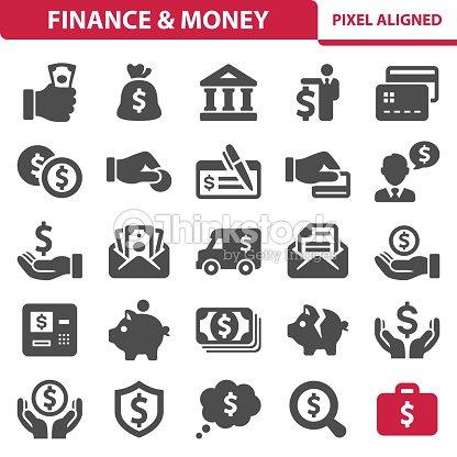 財務&お金のアイコン : ベクトルアート