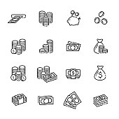 finance thin line icon set 1, vector eps10.