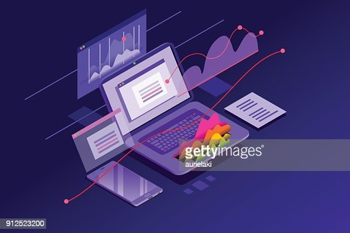 Financial Analysis Minimal Wallpaper : stock vector