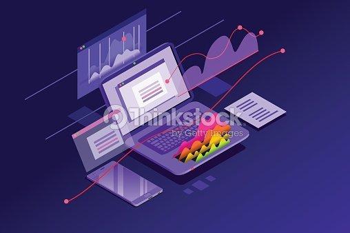 Financial Analysis Minimal Wallpaper : stock vector