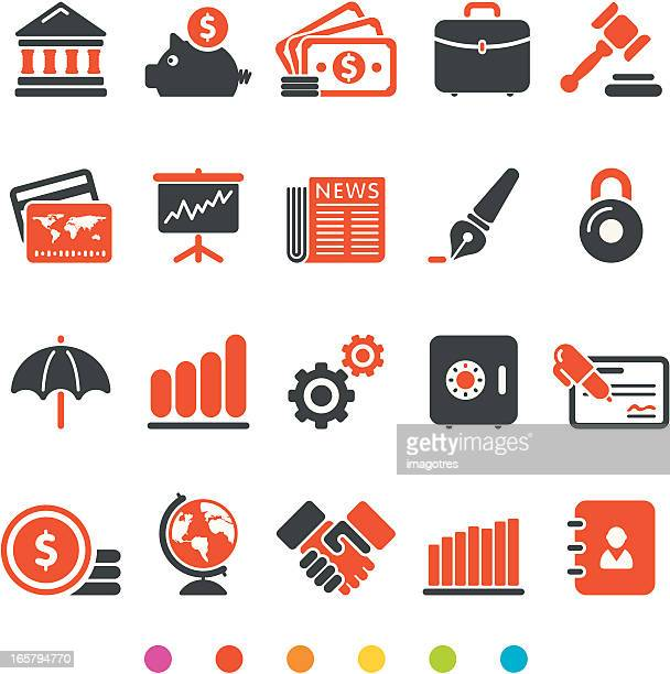 Financial and Business Icon Set