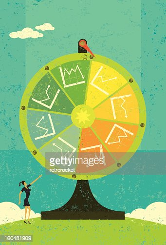 Financial Chart Fortune Wheel : Vektorgrafik