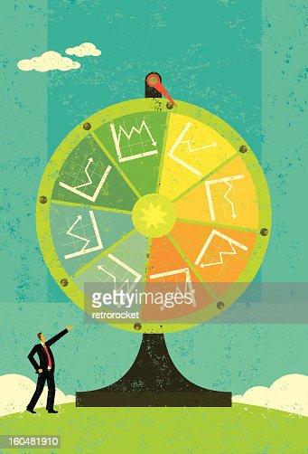 Financial Chart Fortune Wheel : Vector Art