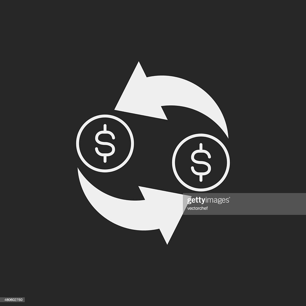 financial exchage money icon : Vector Art