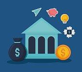 Fintech Investment Financial Internet Technology Concept vector illustration graphic design