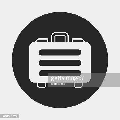 financial money bag icon : Vector Art