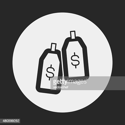 financial money symbol icon : Vector Art
