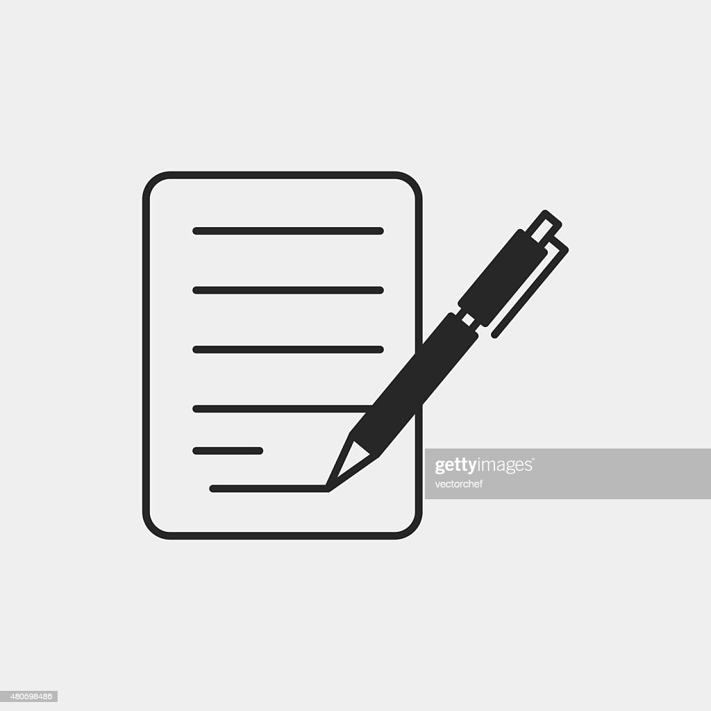 financial paper icon : Vector Art