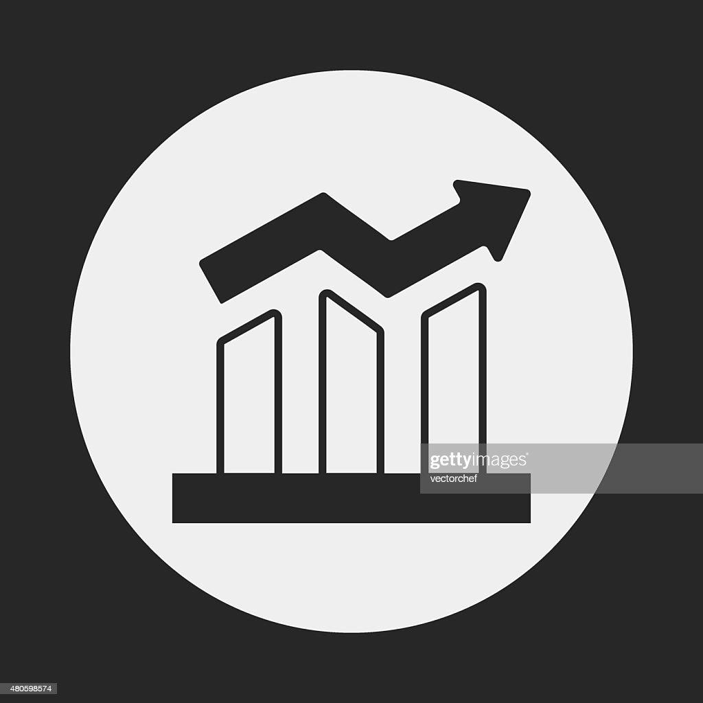 financial stock icon : Vector Art