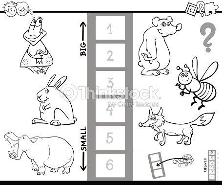 Größte Tier Spiel Farbbuch Finden Vektorgrafik | Thinkstock