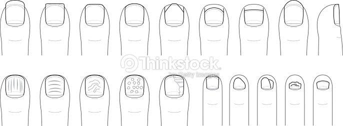 Doigt et les ongles des doigts de pied forme et conditions clipart vectoriel thinkstock - Forme des ongles ...