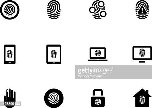Fingerprint Icons On White Background Vector Art | Thinkstock