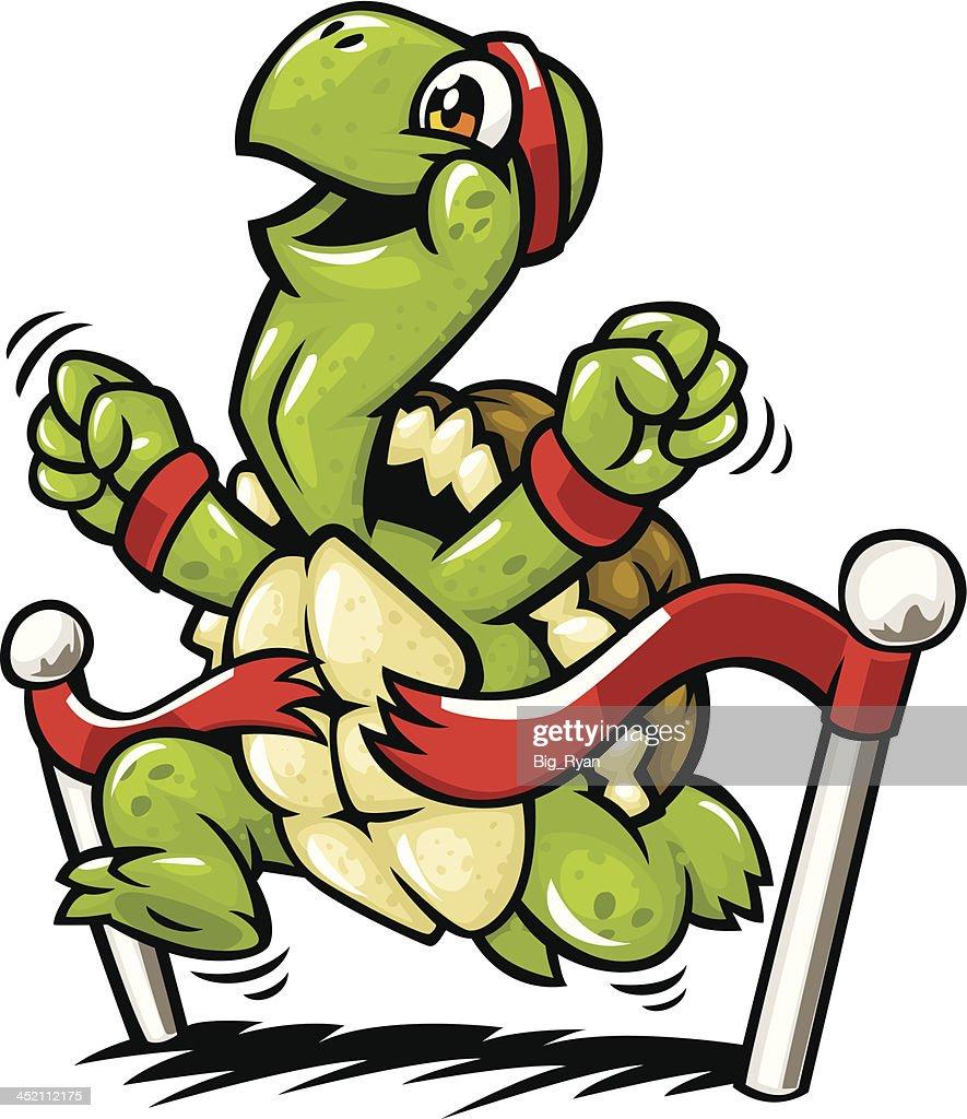 finish line turtle : Vector Art