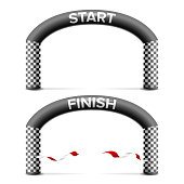 Inflatable Arch Isolated Vector. Archway, Suitable For Sport Event. Marathon Racing Concept. Isolated Illustration