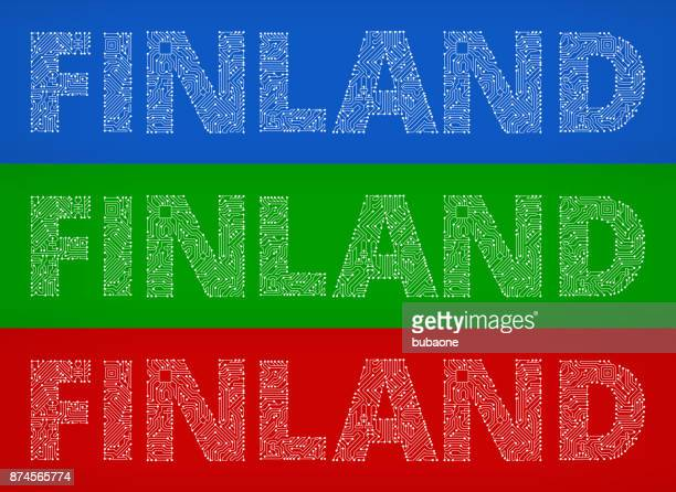 Finland Circuit Board Color Vector Backgrounds