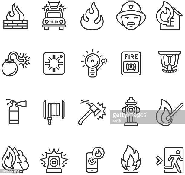 Fire alarm and department icon