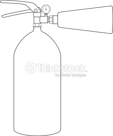 Fire Extinguisher Outline Drawing Icon Vector Art Thinkstock