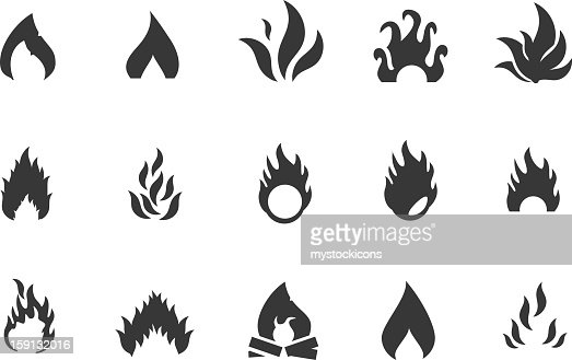Fire Icons and Symbols : Vector Art