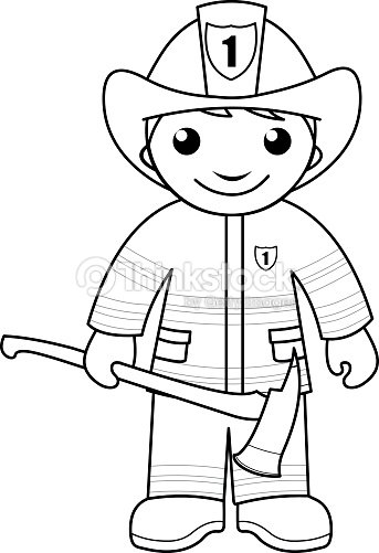 firefighter coloring pages for preschoolers - bomberocolorear p gina para ni os arte vectorial thinkstock