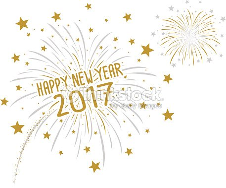 firework with happy new year 2017 on white background vector art