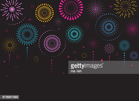 Fireworks and celebration background, winner, victory poster : Vector Art