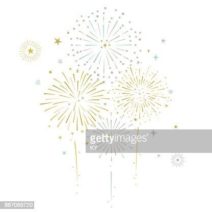 Estrellas y los fuegos artificiales vector ilustración : Arte vectorial