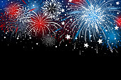 Fireworks background design vector illustration
