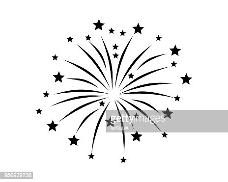 Fireworks display on white : stock vector