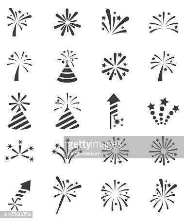 Fireworks icon set : Vector Art