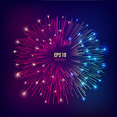 abstract futuristic fireworks explosion background