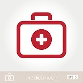 The modern medical icon first aid kit, eps 10