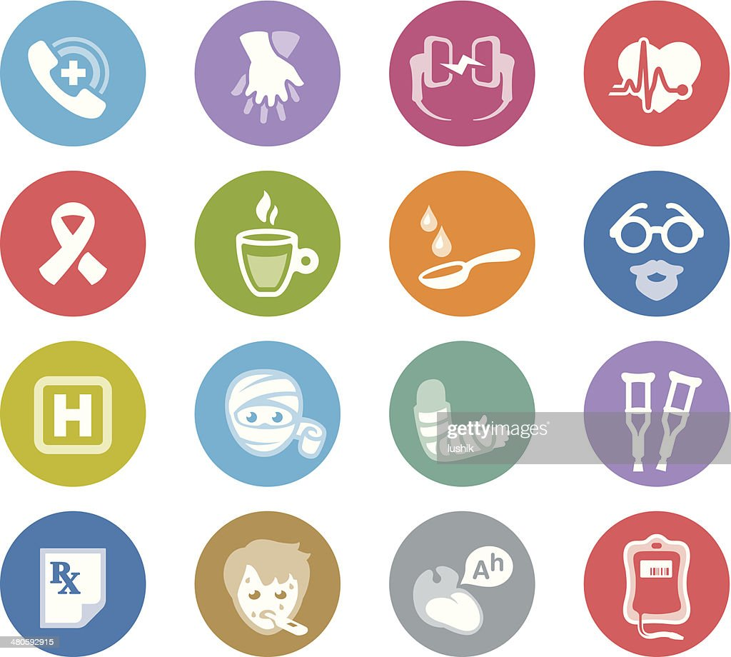 First Aid / Wheelico icons : Vector Art