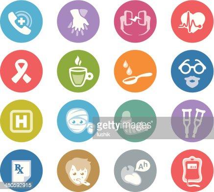 First Aid / Wheelico icons : Vector Art