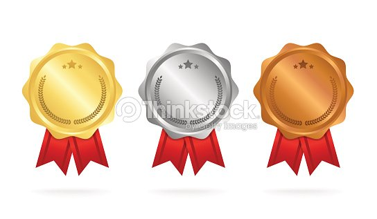 First Place Second Place Third Place Award Medals Set