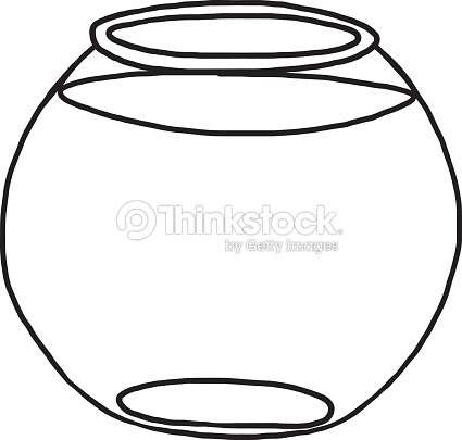 Bocal poissons clipart vectoriel thinkstock for Empty fish bowl coloring page