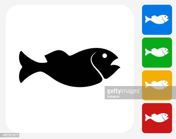 Fish Icon Flat Graphic Design