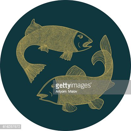 Fish in the circle : Arte vectorial