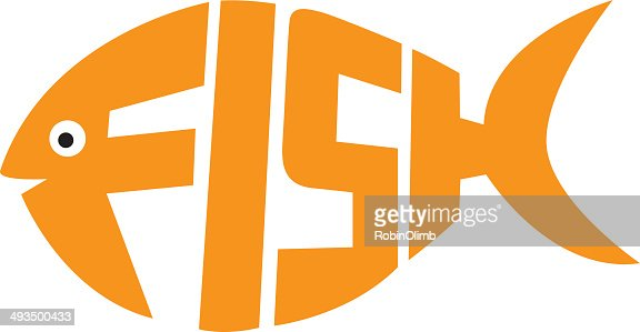 fish letters vector art