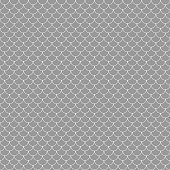 Gray and white fish scales or scallops design