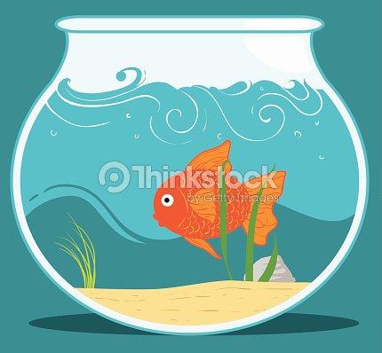 Boccia per pesci rossi arte vettoriale thinkstock for Boccia pesci