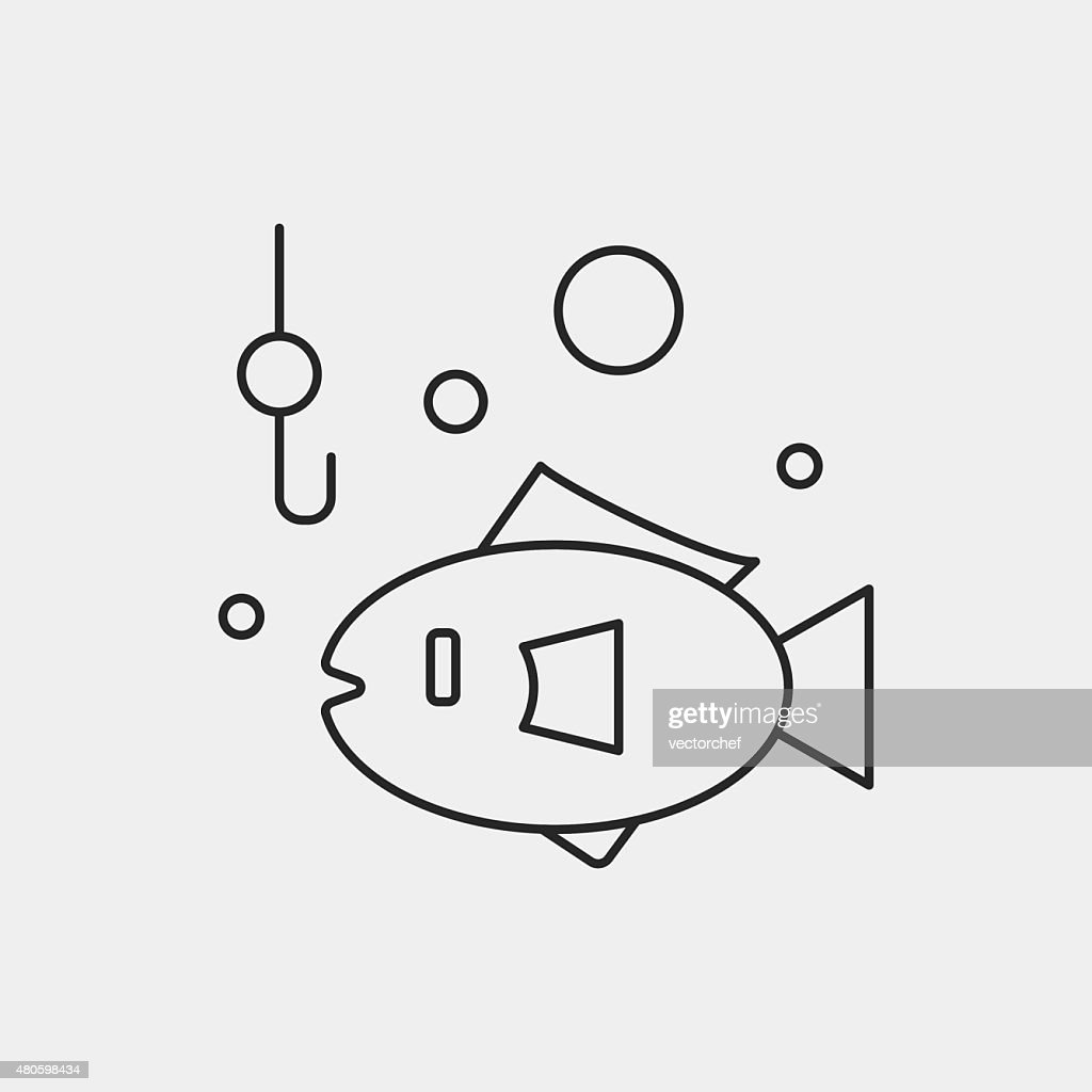 fishing line icon : Vector Art