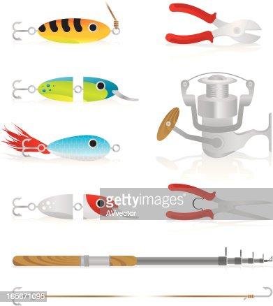 Fishing stuff vector art getty images for Free fishing stuff