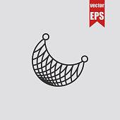 Fishnet icon Seine.Vector illustration.